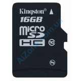 Карта памяти Kingston microSDHC 16 GB Class 10